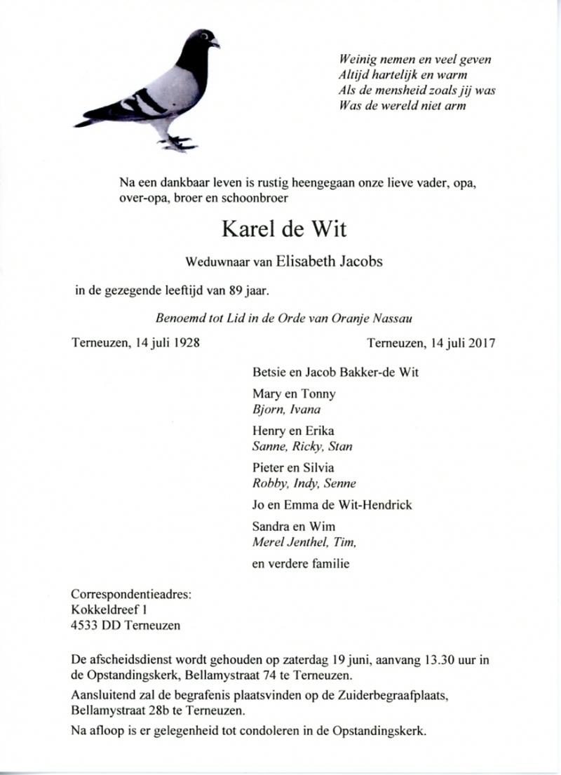 Rouwkaarten Uitvaartverzorging J J M De Voogt